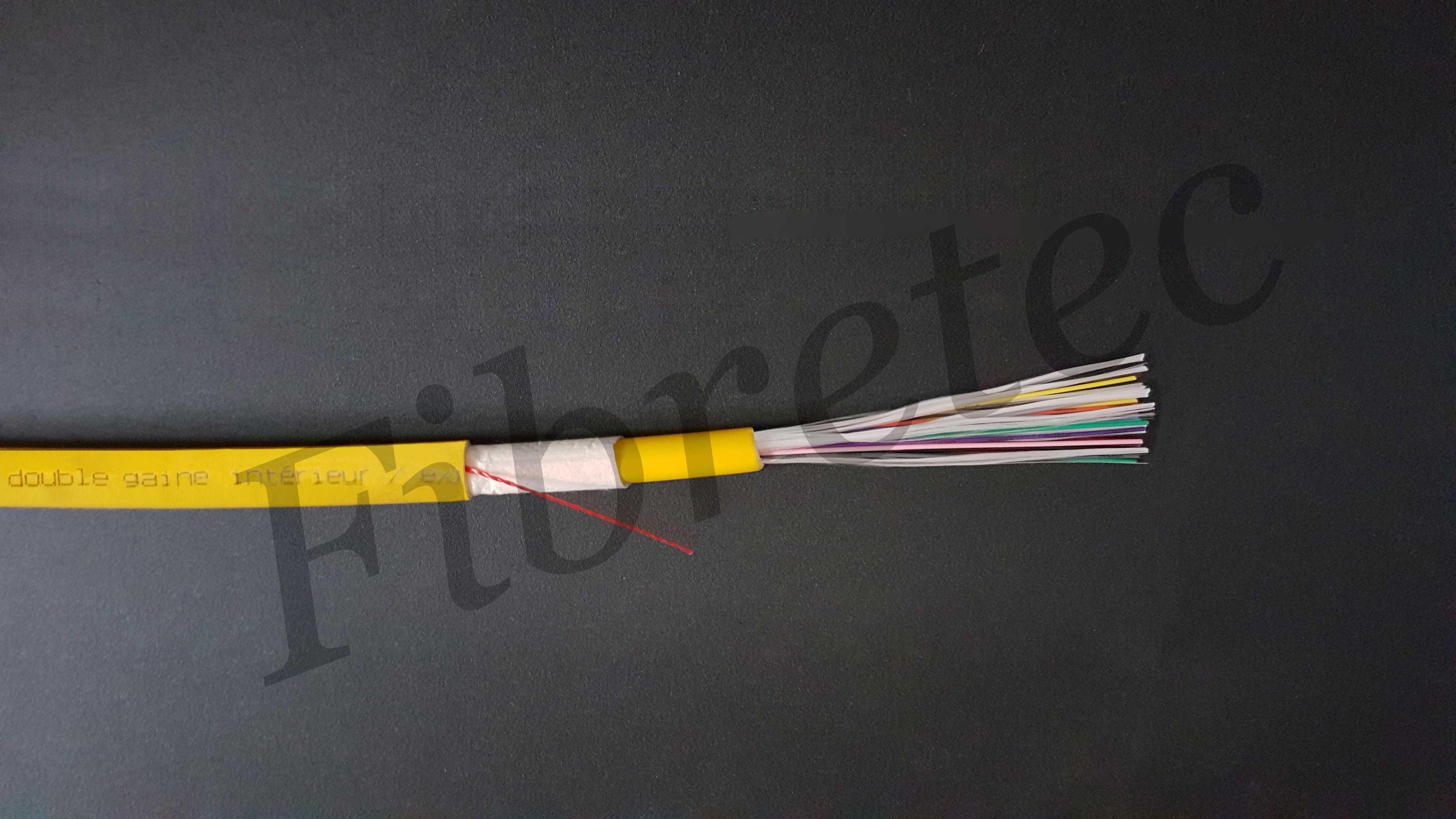 Câble Fiberstar int/ext 24 FO 9/125 G652D gaine LSZH, à structure serrée 900µm