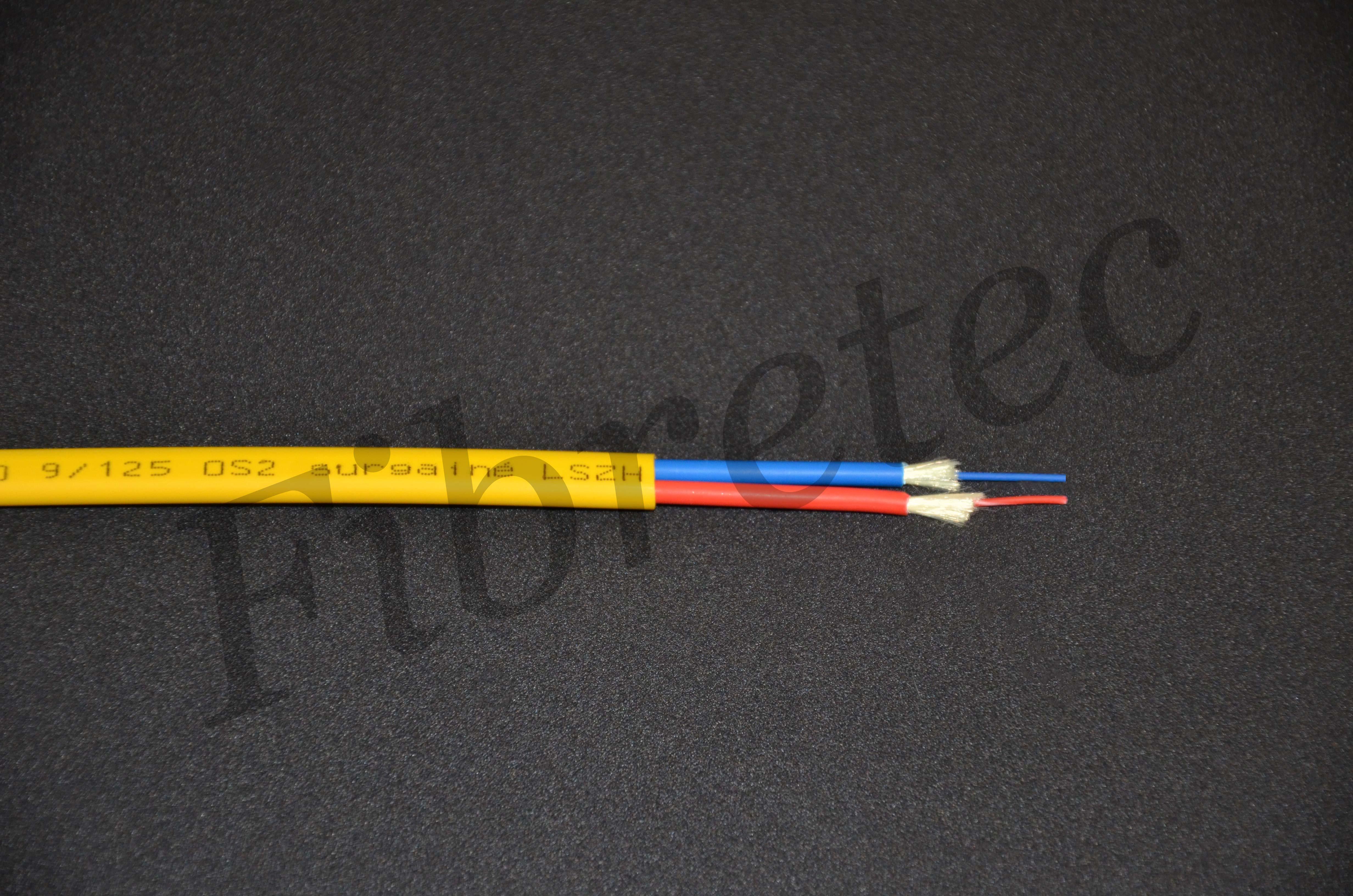 Câble Fiberstar surgainé 2 FO 9/125 OS2 G652D jaune LSZH