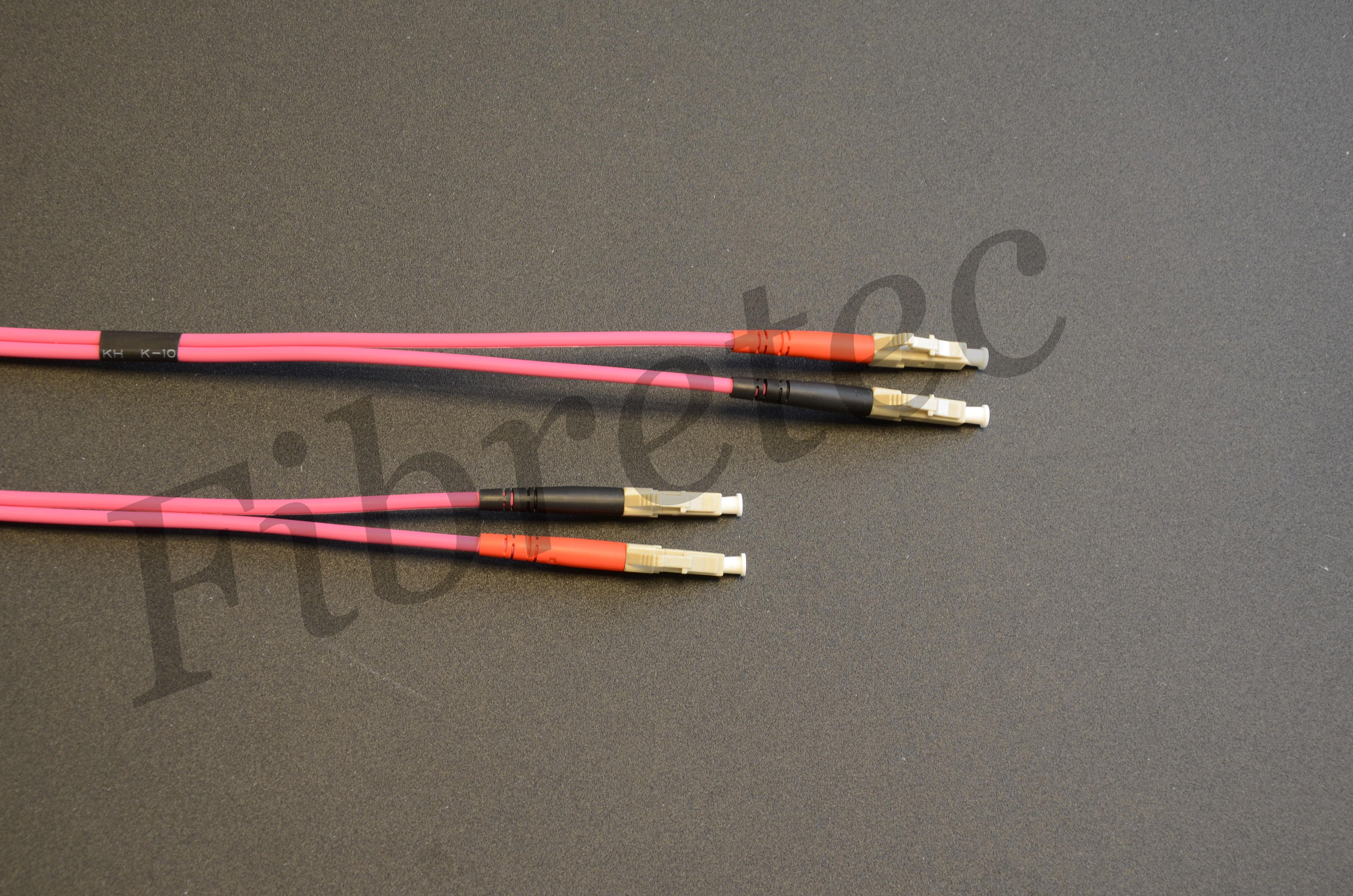 Jarretière LC/LC duplex 50/125 OM4 de 0,50 mètre