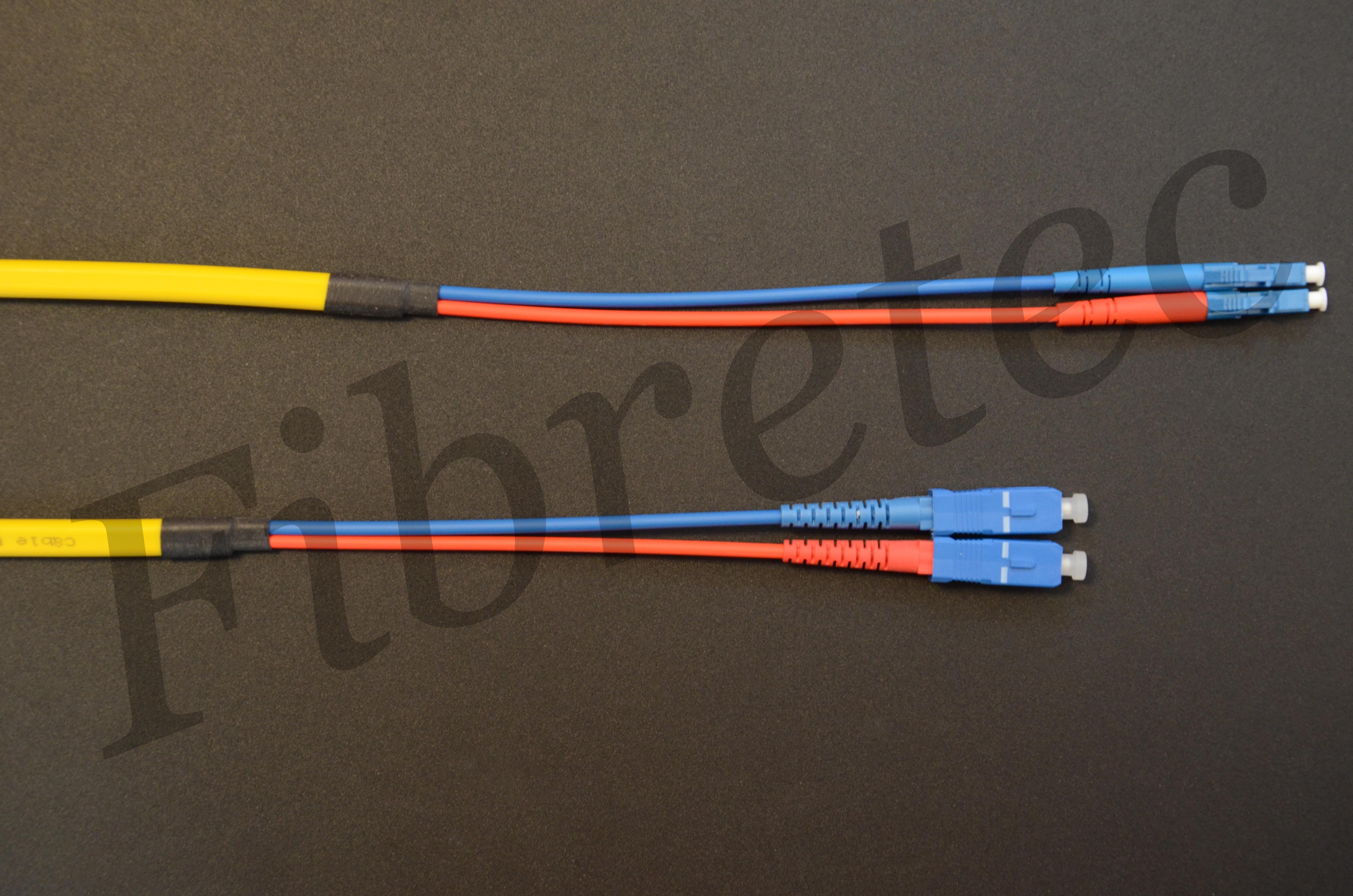 Jarretière LC/SC duplex 9/125 OS2 d' 1 mètre surgainée