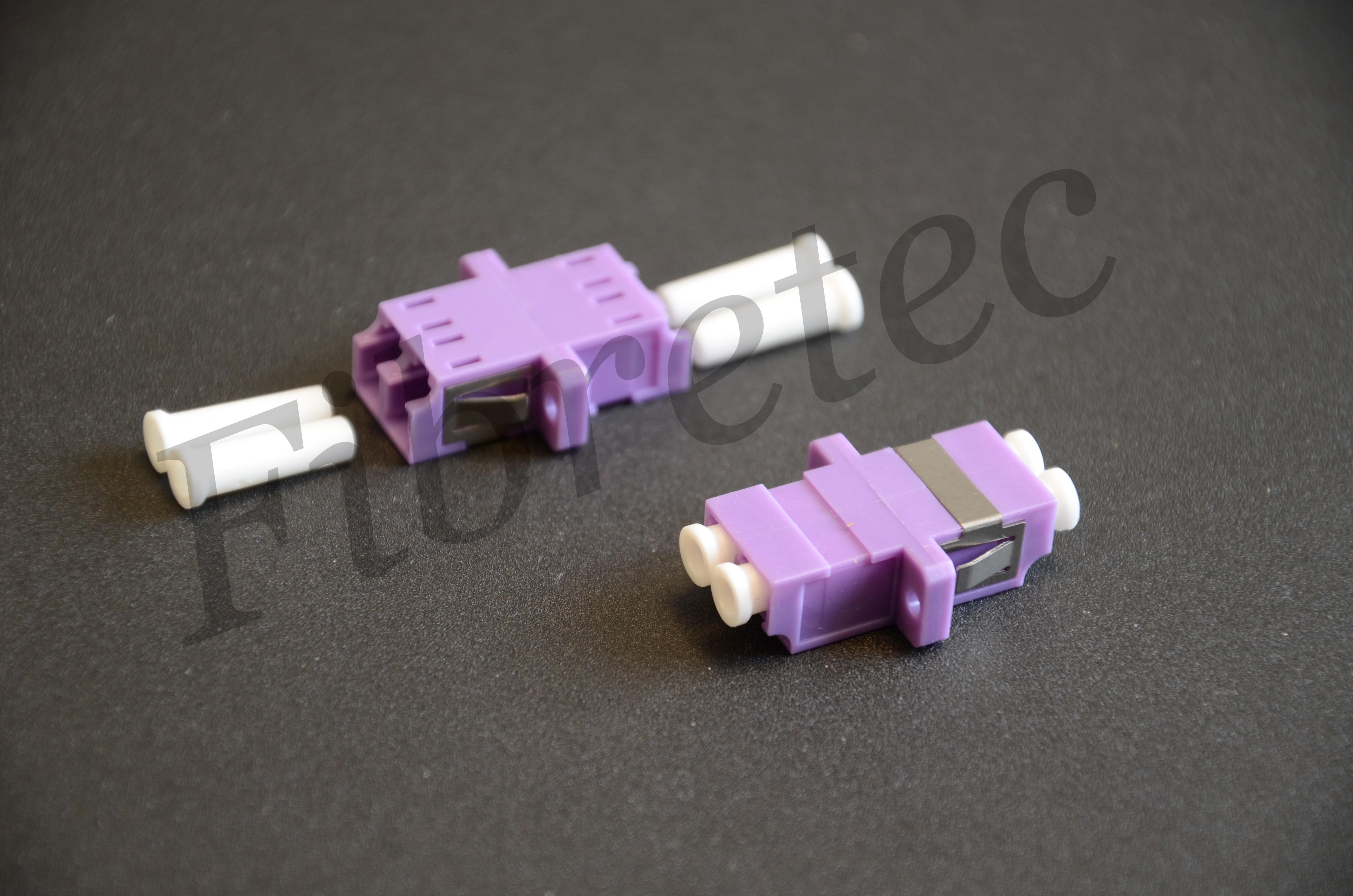 Traversée optique LC/LC duplex multimode violette