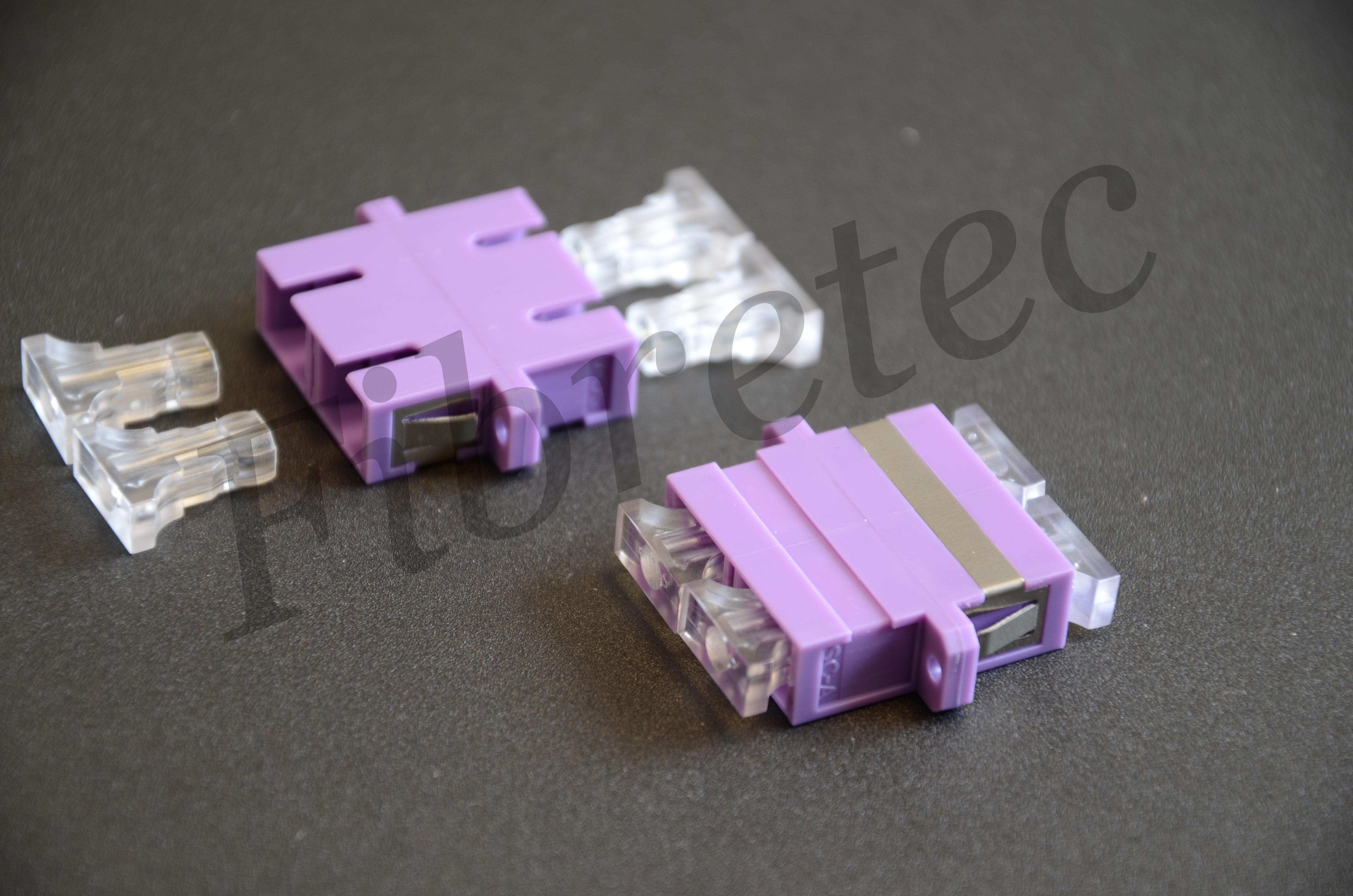 Traversée optique SC/SC duplex multimode violette