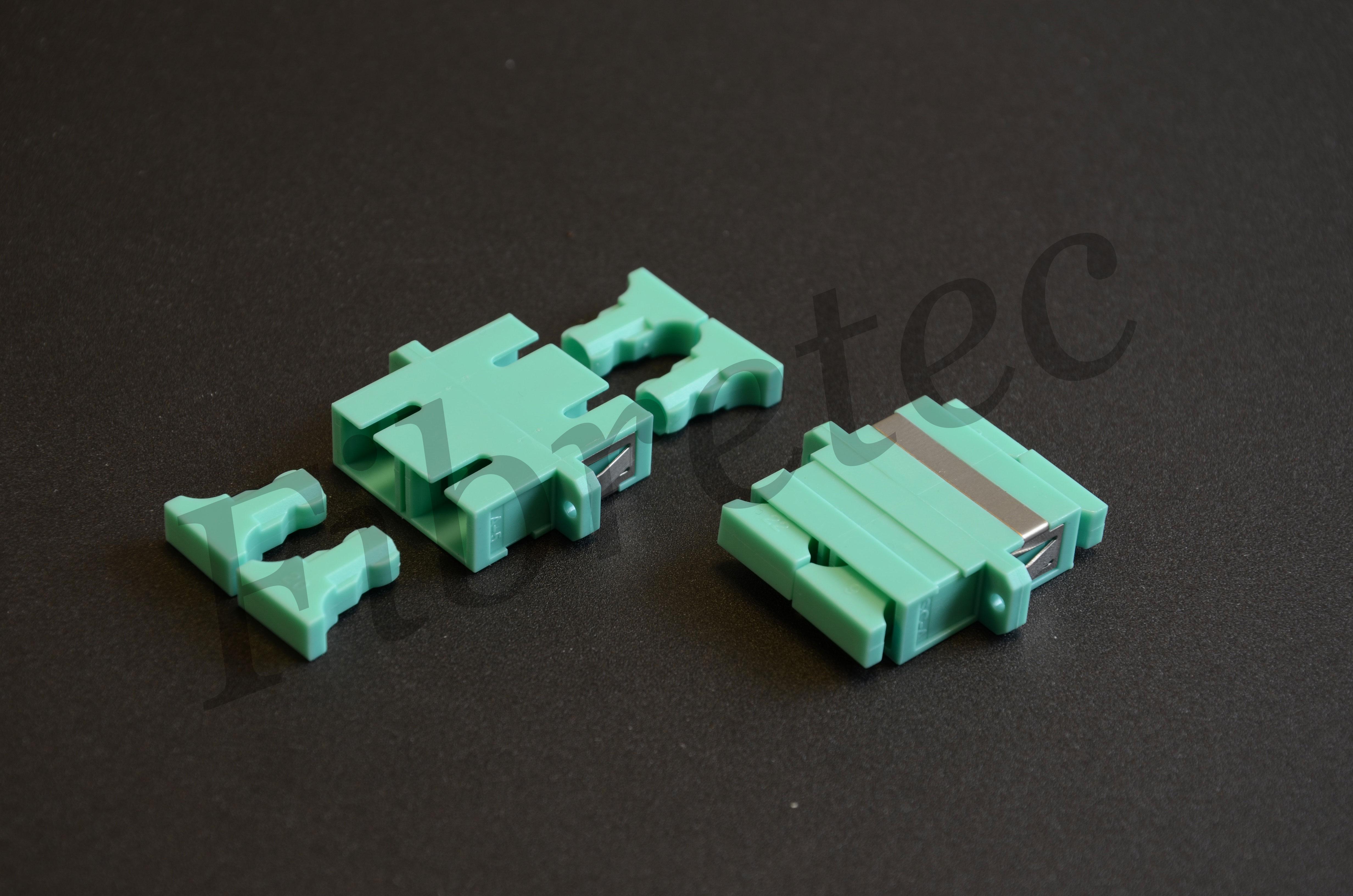 Traversée optique SC/SC duplex multimode aqua