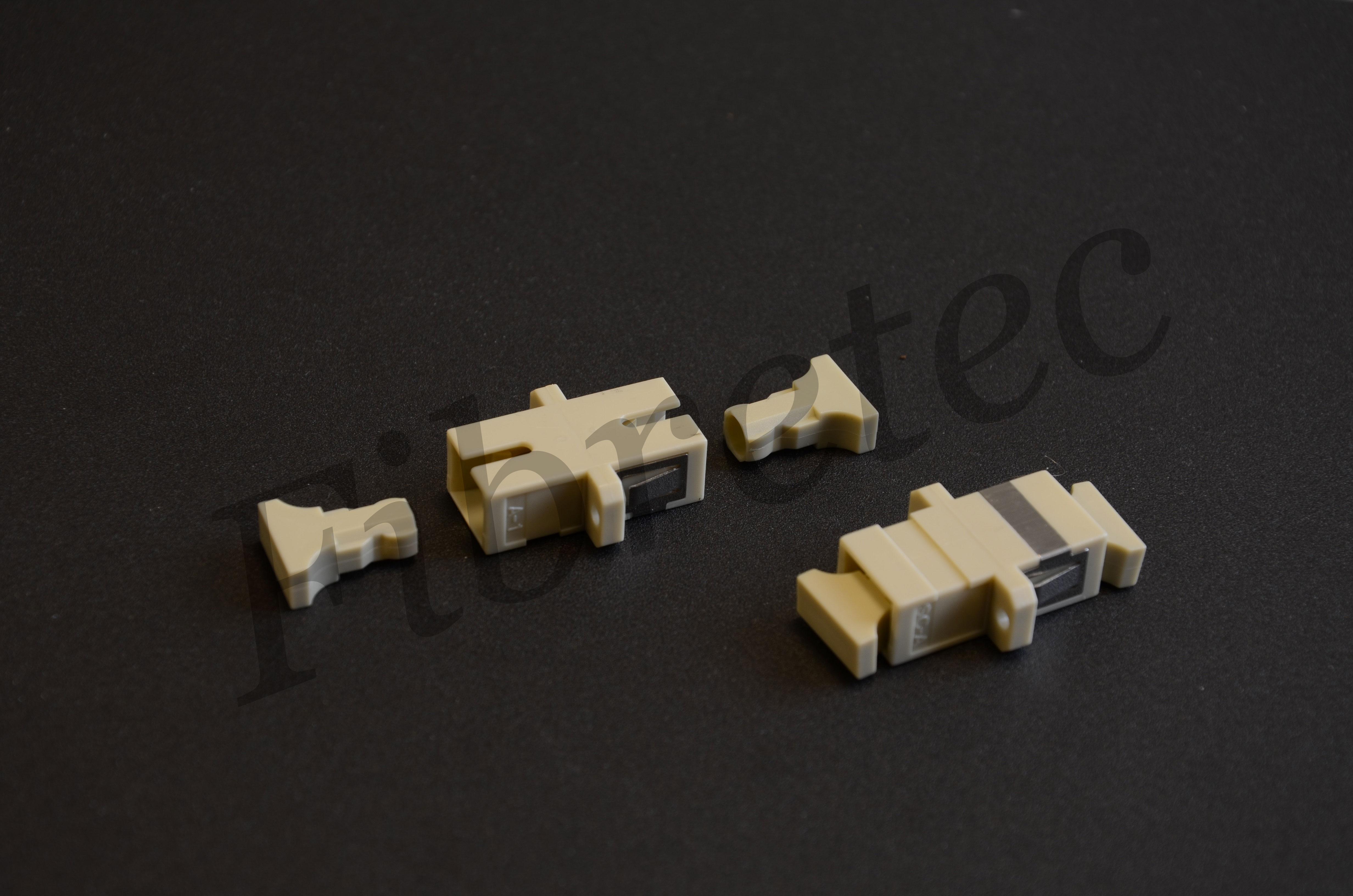 Traversée optique SC/SC simplex multimode beige