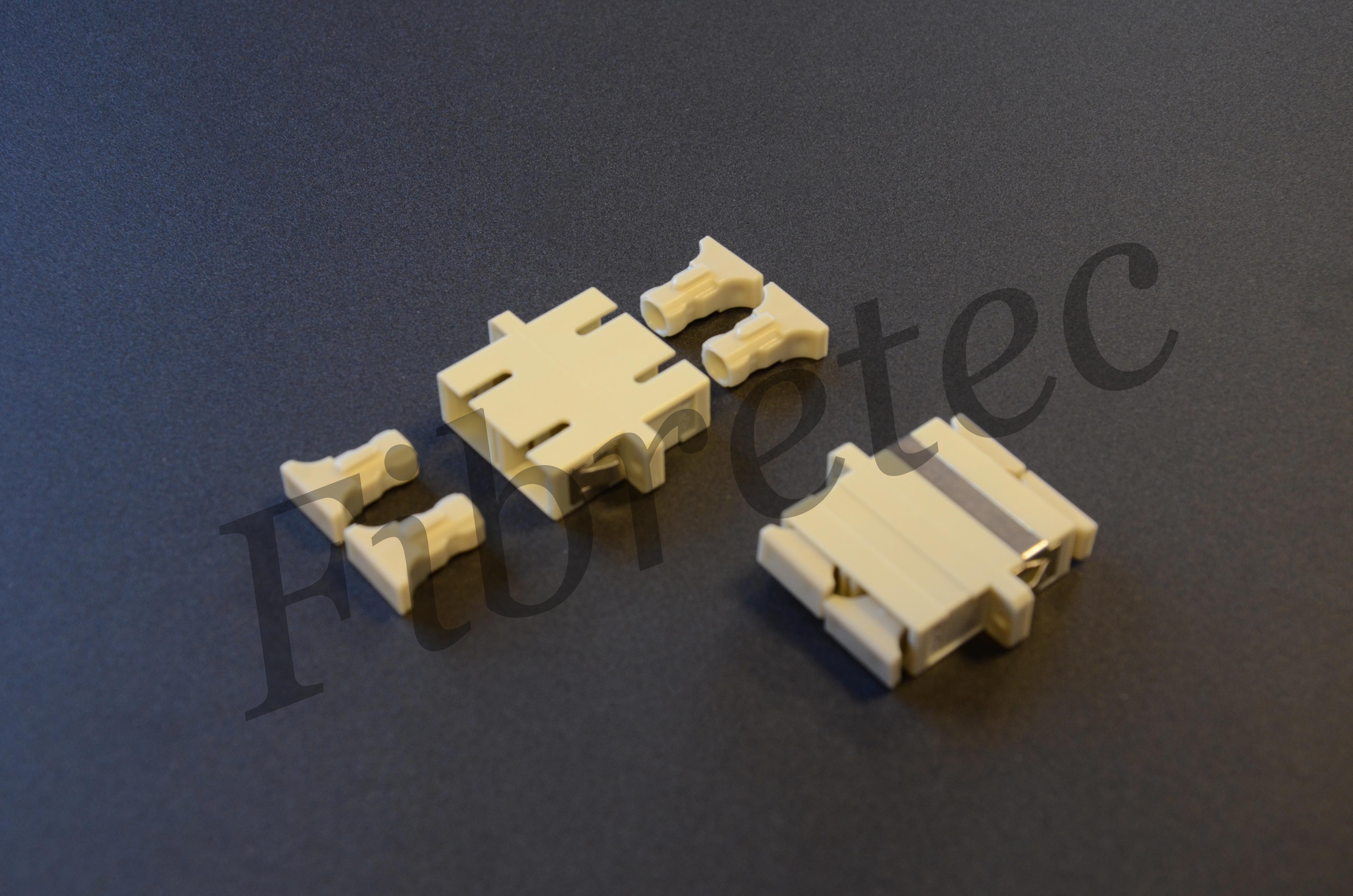 Traversée optique SC/SC duplex multimode beige